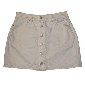 Pacsun Button Front Jean Cotton Mini Skirt